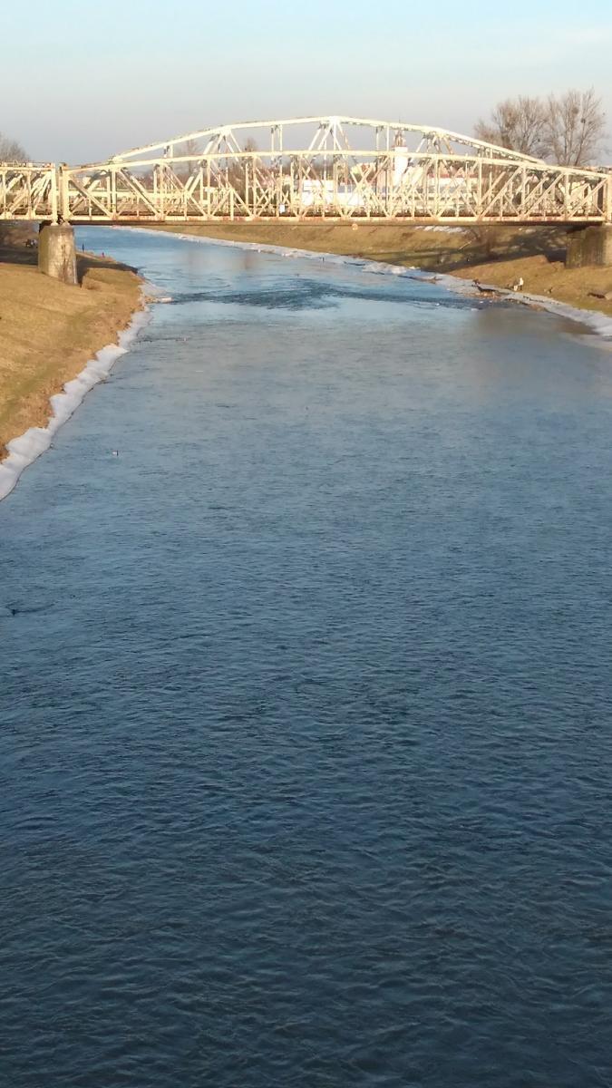 The San River, near Sanok, Poland.